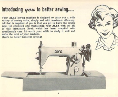 Alfa 40 Sewing Machine Instruction Manual For Download 4040 PDF New Alfa Model 50 Sewing Machine