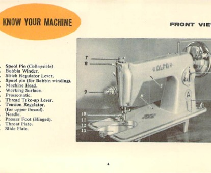 Alfa 40 Sewing Machine Instruction Manual For Download 4040 PDF Inspiration Alfa Model 50 Sewing Machine