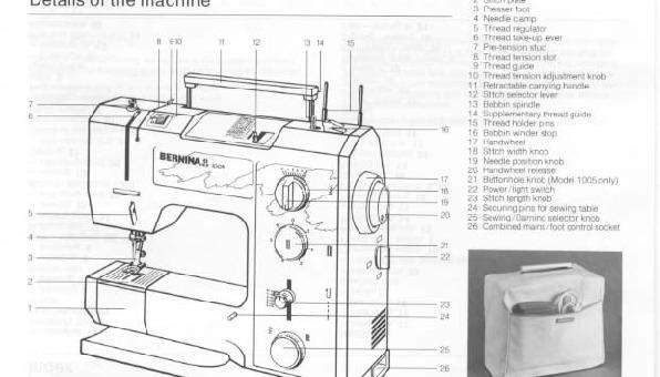 Bernina 1004 1005 Sewing Machine Instruction Manual For Download