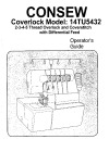 Consew 14TU5432.pdf sewing machine manual image preview