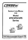 Consew 693.pdf sewing machine manual image preview