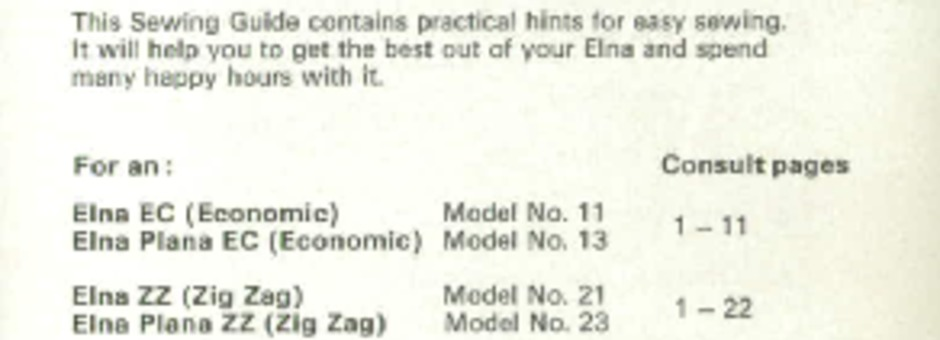 elna lotus zz instruction manual