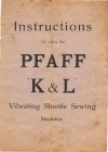 Pfaff k_and_l.pdf sewing machine manual image preview