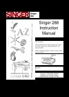 Singer Singer288.pdf sewing machine manual image preview