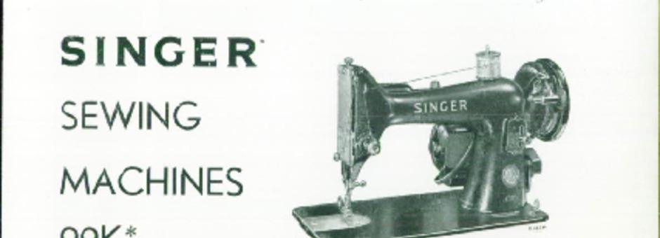Singer 99K Sewing Machine Instruction Manual for Download