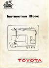 Toyota 727-771.pdf sewing machine manual image preview